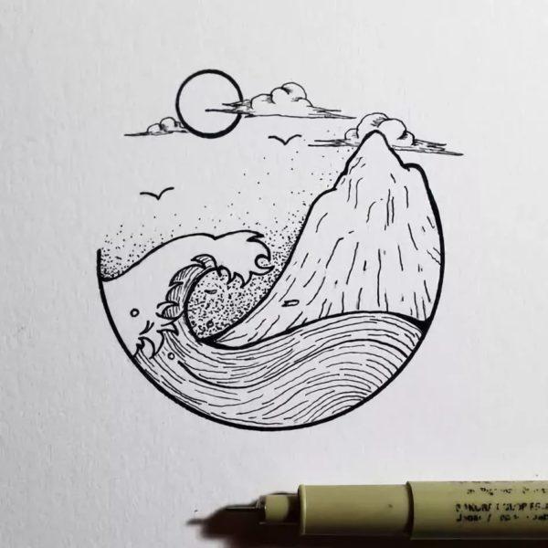 Тумблер картинки для срисовки