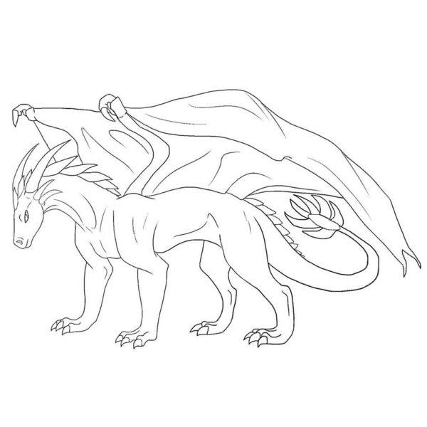 Картинки драконов для срисовки