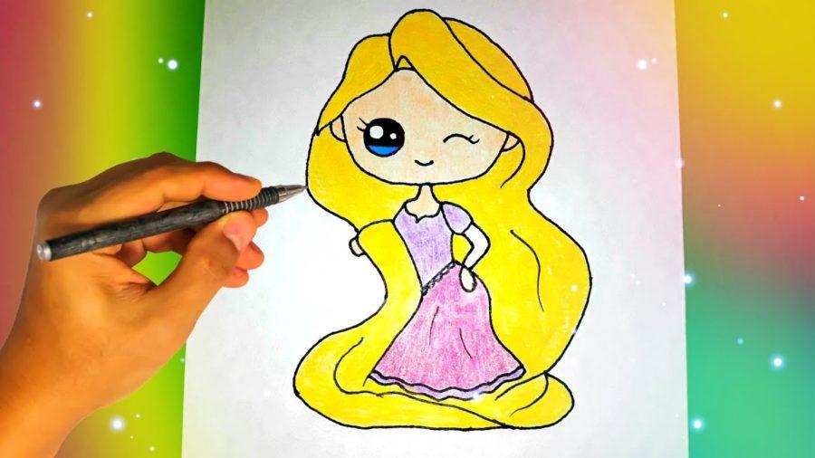 Рапунцель картинки для срисовки