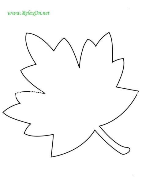 Кленовый лист рисунок-шаблон