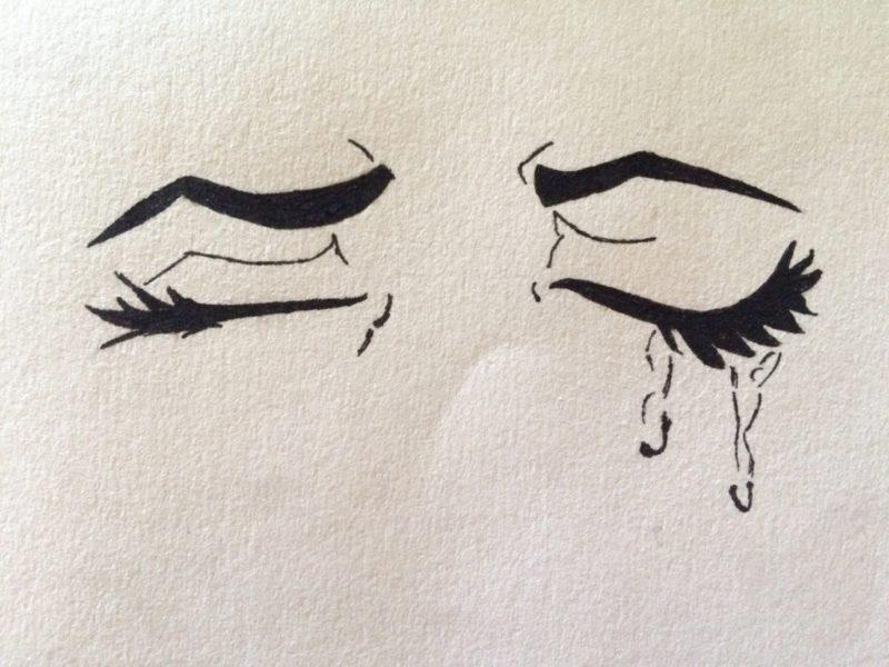 Грустные картинки для срисовки