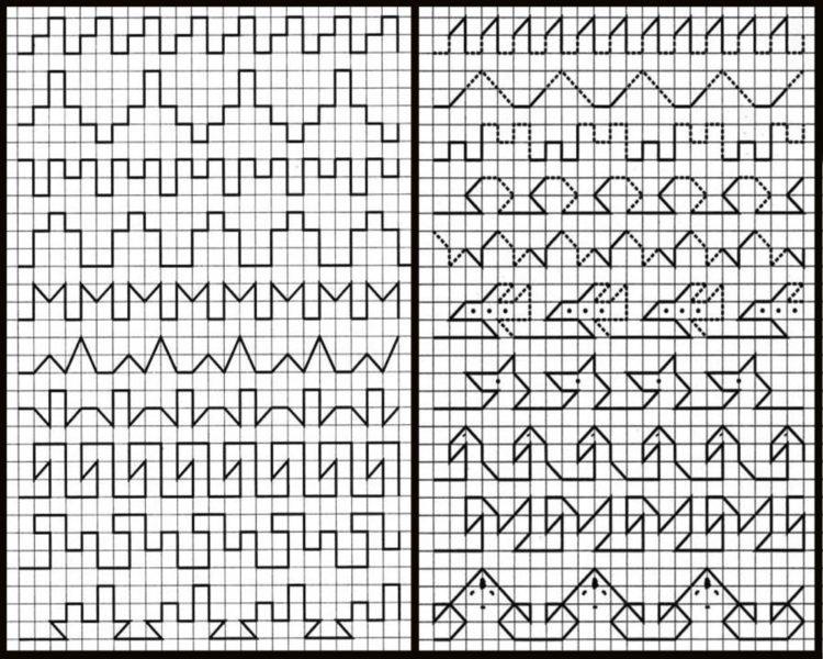 Рисунки по клеточкам для мальчиков
