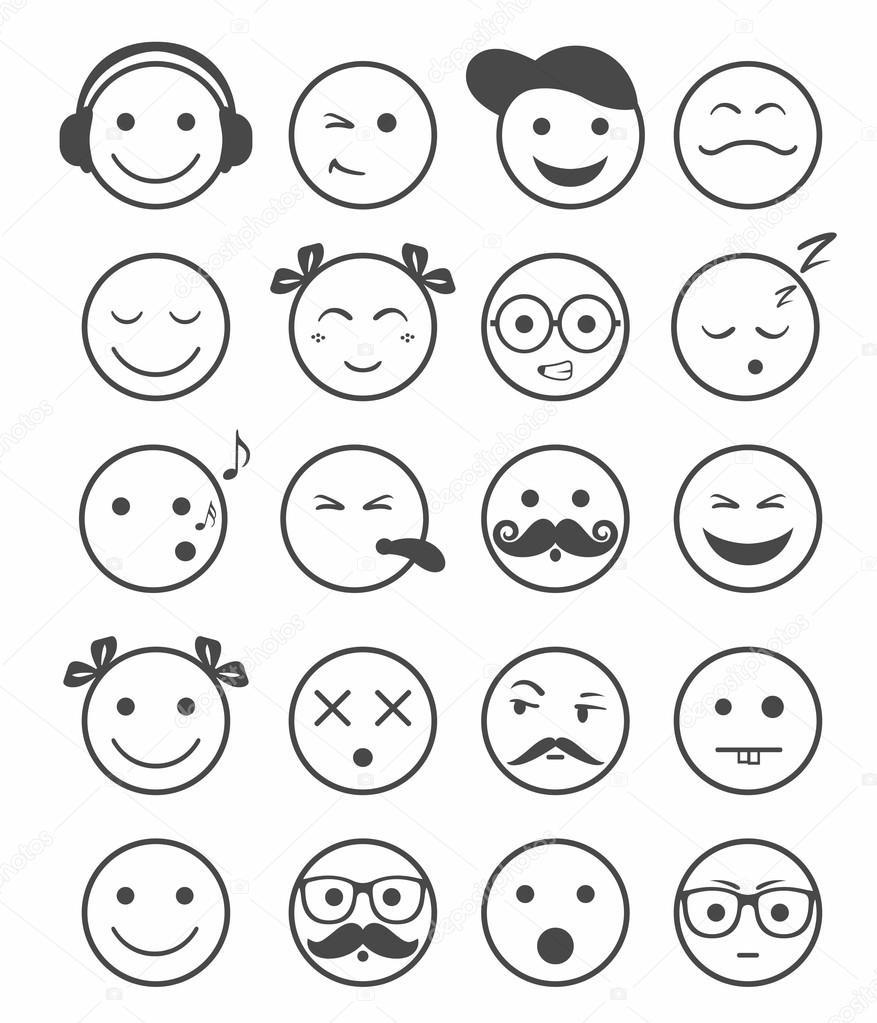 Смайлики картинки – разные настроения