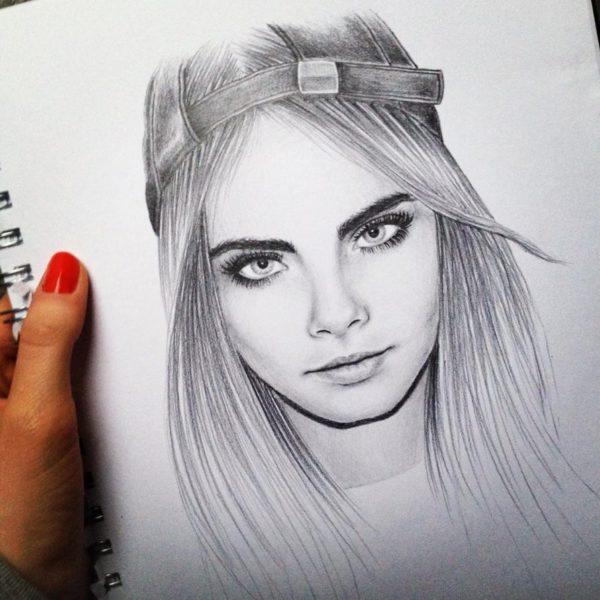 Картинки для срисовки девушки