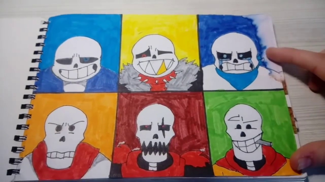 Картинки андертейл для срисовки