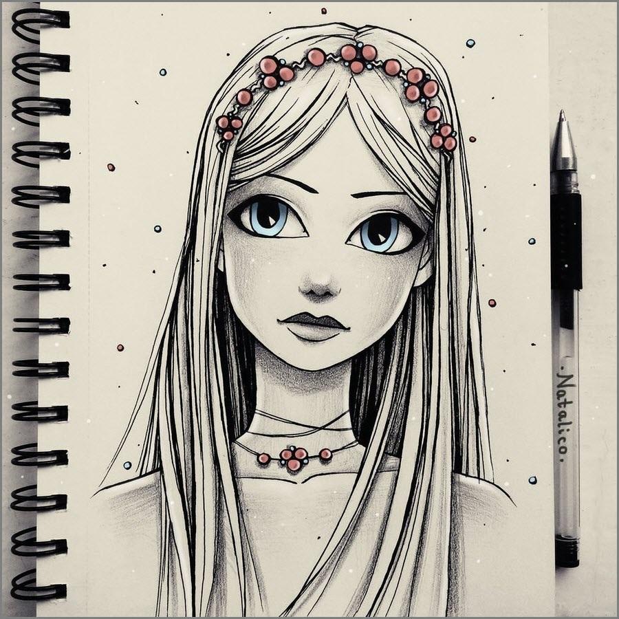 Картинки для срисовки для девочки 10-12 лет
