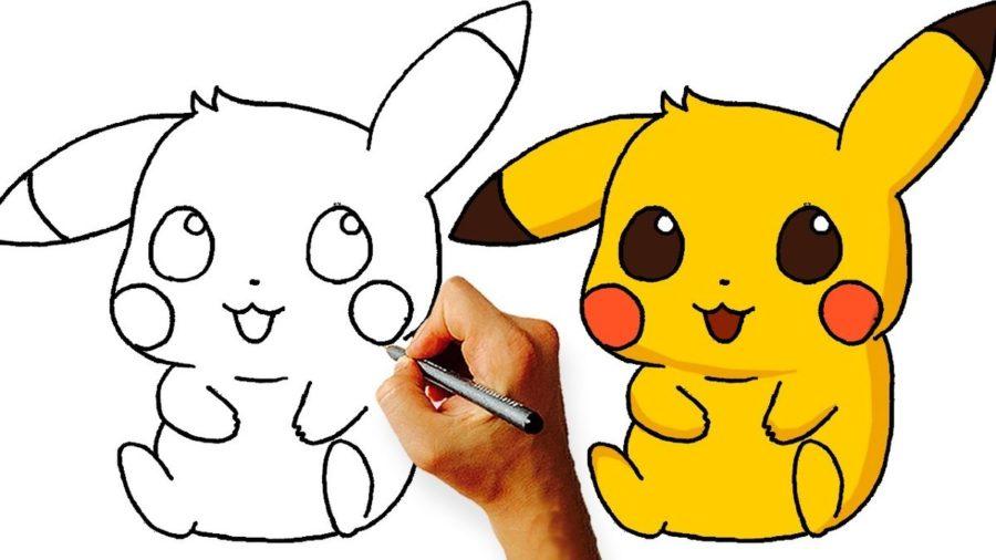 Картинки Пикачу для срисовки