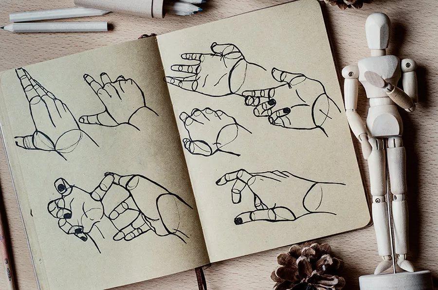 170 картинок для срисовки в скетчбук
