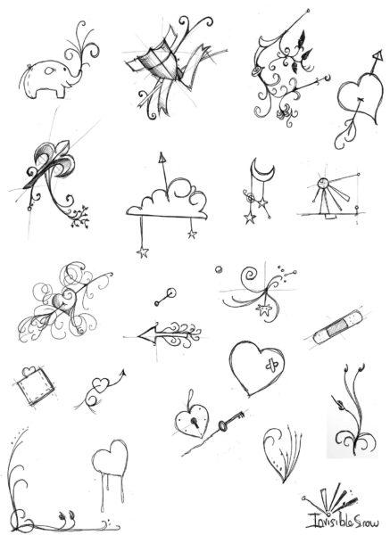 200 легких и красивых мини рисунков для срисовки